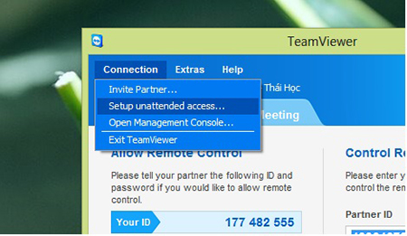 ket noi tu dong tren team viewer